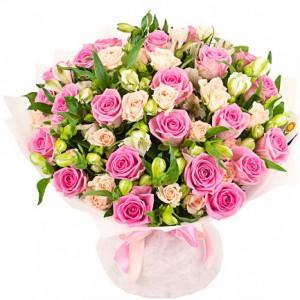 Бело - розовые мечты — Kievflower - Доставка цветов