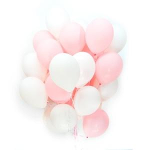 Бело розовые шары — Kievflower - Доставка цветов