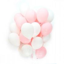 Бело розовые шары