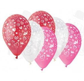 Шарики Сердечки — Гелиевые шарики заказать с доставкой в KievFlower.  Артикул: 55565