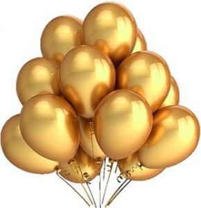 Шарики гелиевые золото  — Kievflower - Доставка цветов