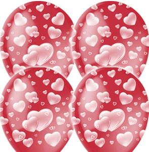 Круглый шарик в сердечках — Kievflower - Доставка цветов