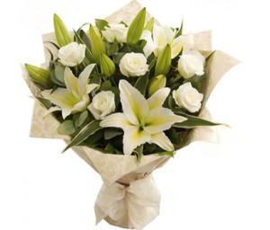 Лилии и розы — Kievflower - Доставка цветов