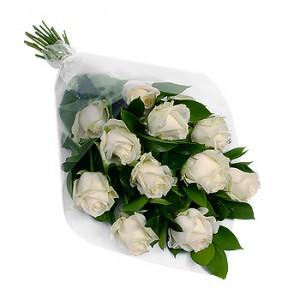 Белые розы — Букеты цветов заказать с доставкой в KievFlower.  Артикул: 0599