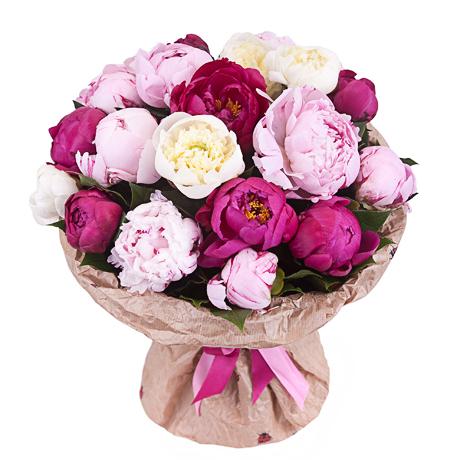 Цветы пионы купить букет где в киеве купить розы в 8 утра