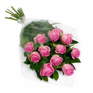 Рожеві троянди — Букети квітів купити з доставкою в KievFlower.  Артикул: 0501