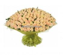 """Букет из 301  кремовой розы """"Моей Королеве"""""""