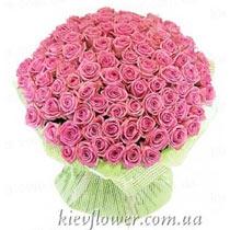 Акція - 101 рожева троянда