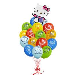 """Набор шариков  """"Hello Kitty"""" — Kievflower - Доставка цветов"""