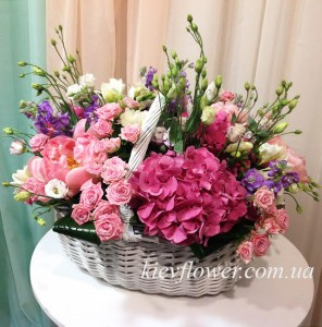 """Корзина """"Моя прекрасная леди"""" — Kievflower - Доставка цветов"""