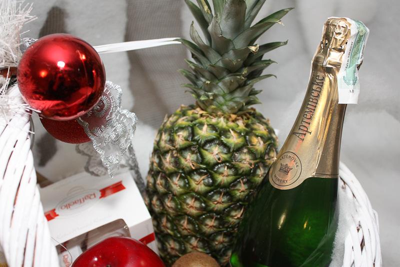 Картинки шампанского и ананасами