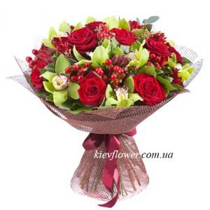 """Букет """"Венеция"""" — Розы заказать с доставкой в KievFlower.  Артикул: 48118"""