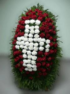 Траурный букет из гвоздик — Kievflower - Доставка цветов