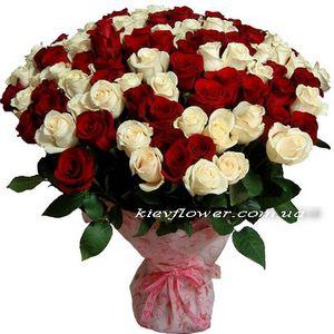 101 голландская роза — Букеты цветов заказать с доставкой в KievFlower.  Артикул: 7025