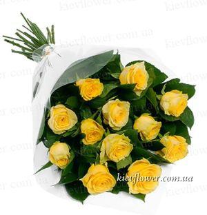 Желтые розы — Букеты цветов заказать с доставкой в KievFlower.  Артикул: 0598