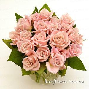 Букет из 19 нежно-розовых роз — Букеты цветов заказать с доставкой в KievFlower.  Артикул: 1220