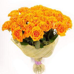 25 желтых роз — Букеты цветов заказать с доставкой в KievFlower.  Артикул: 1116