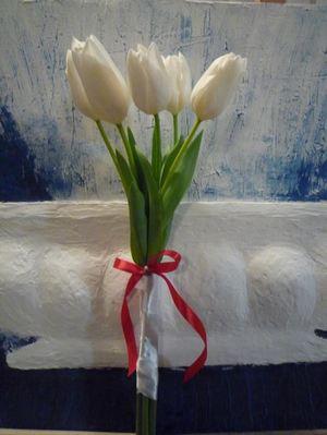 5 тюльпанов — Букеты цветов заказать с доставкой в KievFlower.  Артикул: 17995