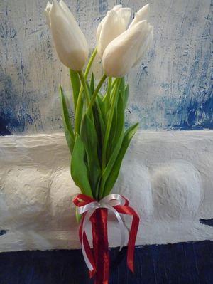 7 тюльпанов — Букеты цветов заказать с доставкой в KievFlower.  Артикул: 17994