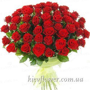 "Букет 55 роз ""Grand Prix"" h 80 см  — Букеты цветов заказать с доставкой в KievFlower.  Артикул: 1273"