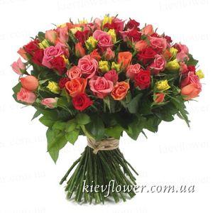 """Букет """"101 роза"""" — Букеты цветов заказать с доставкой в KievFlower.  Артикул: 1260"""
