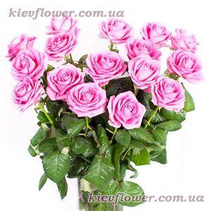 """""""Розовые розы"""" — Букеты цветов заказать с доставкой в KievFlower.  Артикул: 0710"""