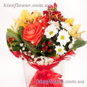 """Букет """"Блюз"""" — Букеты цветов заказать с доставкой в KievFlower.  Артикул: 1066"""