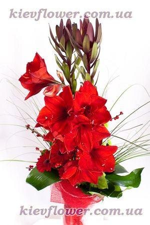 "Букет ""Сердце Прометея"" — Букеты цветов заказать с доставкой в KievFlower.  Артикул: 0640"
