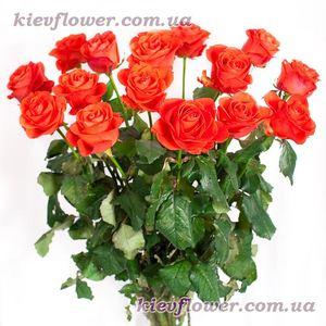 Коралловые розы — Букеты цветов заказать с доставкой в KievFlower.  Артикул: 0719