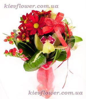 С Днем влюбленных — Букеты цветов заказать с доставкой в KievFlower.  Артикул: 0910