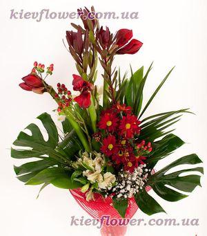 Экзотический бизнес-букет — Букеты цветов заказать с доставкой в KievFlower.  Артикул: 1015