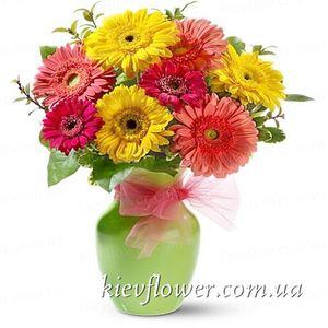 Букет гербер — Букеты цветов заказать с доставкой в KievFlower.  Артикул: 0595