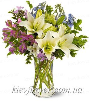 "Букет ""Весенний микс"" — Букеты цветов заказать с доставкой в KievFlower.  Артикул: 0560"