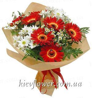 """Букет """"Европейский"""" — Букеты цветов заказать с доставкой в KievFlower.  Артикул: 1225"""