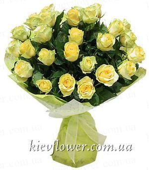 Букет желтых роз -19 — Букеты цветов заказать с доставкой в KievFlower.  Артикул: 0623
