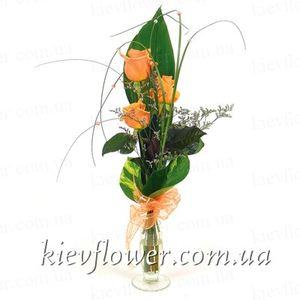 """Букет из роз """"Комплимент"""" — Букеты цветов заказать с доставкой в KievFlower.  Артикул: 1265"""