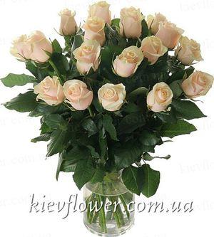 Букет кремовых роз  — Букеты цветов заказать с доставкой в KievFlower.  Артикул: 0520