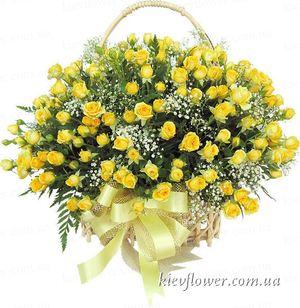 """Корзина роз """"Маркиза"""" — Букеты цветов заказать с доставкой в KievFlower.  Артикул: 0631"""