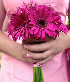 Букет невесты из гербер № 21 — Свадебные букеты заказать с доставкой в KievFlower.  Артикул: 9021