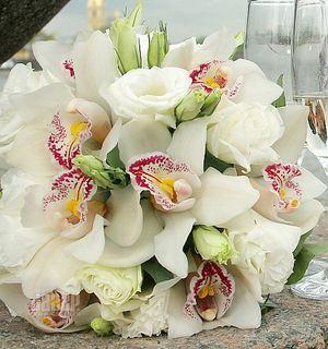 Букет невесты из орхидей № 30 — Свадебные букеты заказать с доставкой в KievFlower.  Артикул: 9030