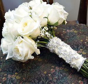 Свадебный букет невесты № 46 — Свадебные букеты заказать с доставкой в KievFlower.  Артикул: 9046