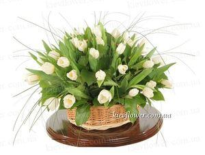 """Корзинка """"Белое облако"""" — Букеты цветов заказать с доставкой в KievFlower.  Артикул: 1231"""