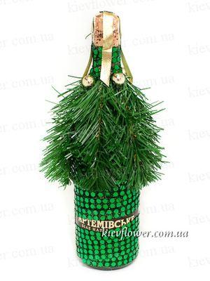 Декорированное шампанское 2 — Корпоративные новогодние подарки заказать с доставкой в KievFlower.  Артикул: 1811