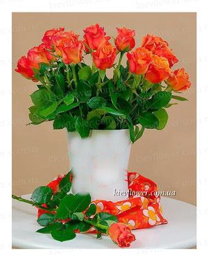 "Букет ""Капелла"" 25 роз — Букеты цветов заказать с доставкой в KievFlower.  Артикул: 0609"