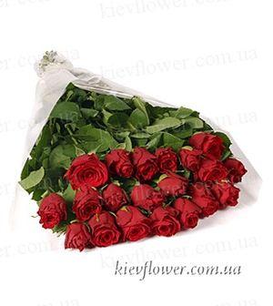 """Букет """"Миледи"""" - голландские розы — Букеты цветов заказать с доставкой в KievFlower.  Артикул: 0605"""