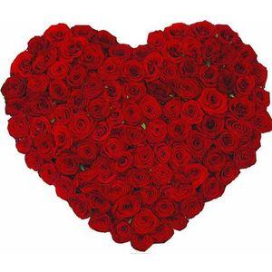 Сердце из роз - в День Влюбленных. — Букеты цветов заказать с доставкой в KievFlower.  Артикул: 0813