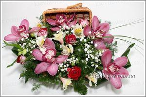 Ларец из Орхидей — Букеты цветов заказать с доставкой в KievFlower.  Артикул: 0517