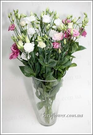 Эустома - Китайская роза — Букеты цветов заказать с доставкой в KievFlower.  Артикул: 0621