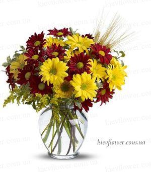 """Букет """"Теплая осень"""" — Букеты цветов заказать с доставкой в KievFlower.  Артикул: 0532"""