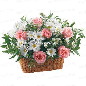 """Корзинка """"С добрым утром, Любимая!"""" — Букеты цветов заказать с доставкой в KievFlower.  Артикул: 0506"""